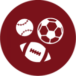 Baseball, Soccer ball, and Football Icons